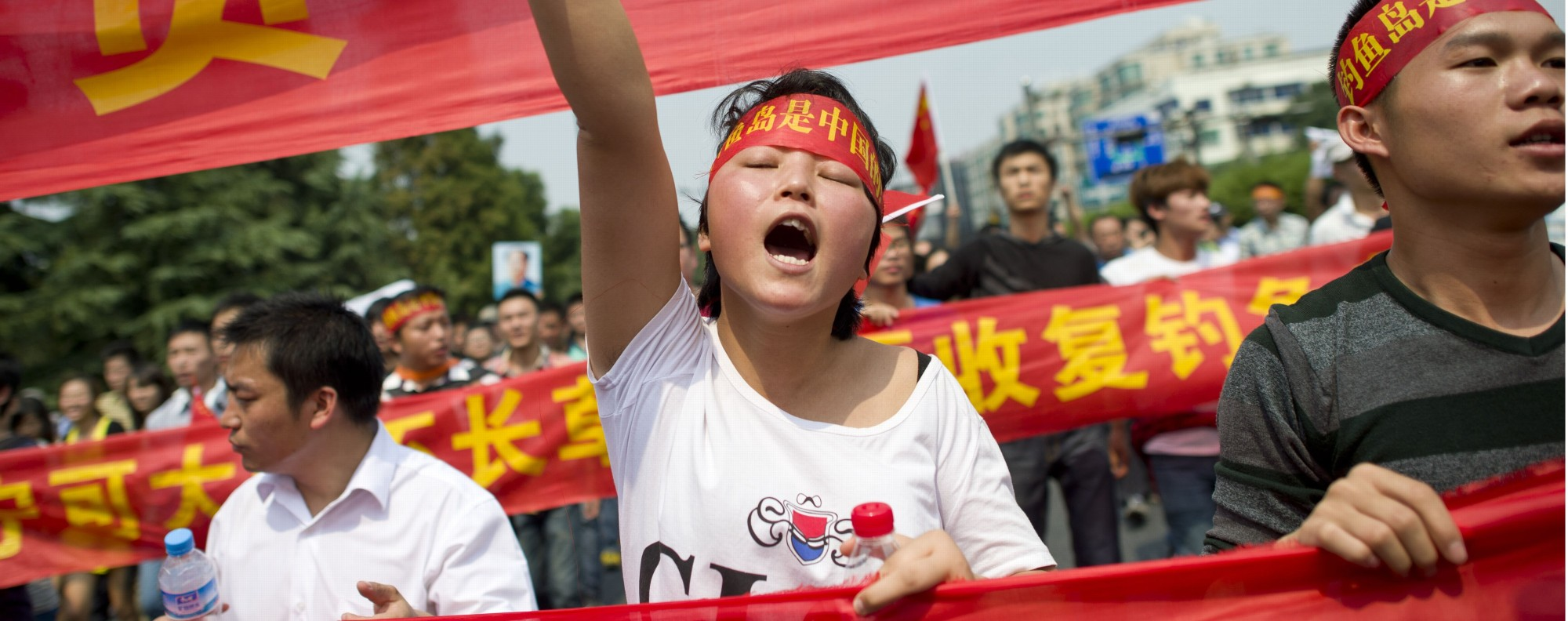 Anti-Japan protesters in China. Photo: AFP