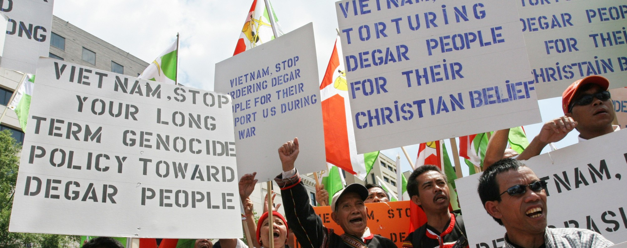 Montagnards demonstrate in the US. Photo: AFP