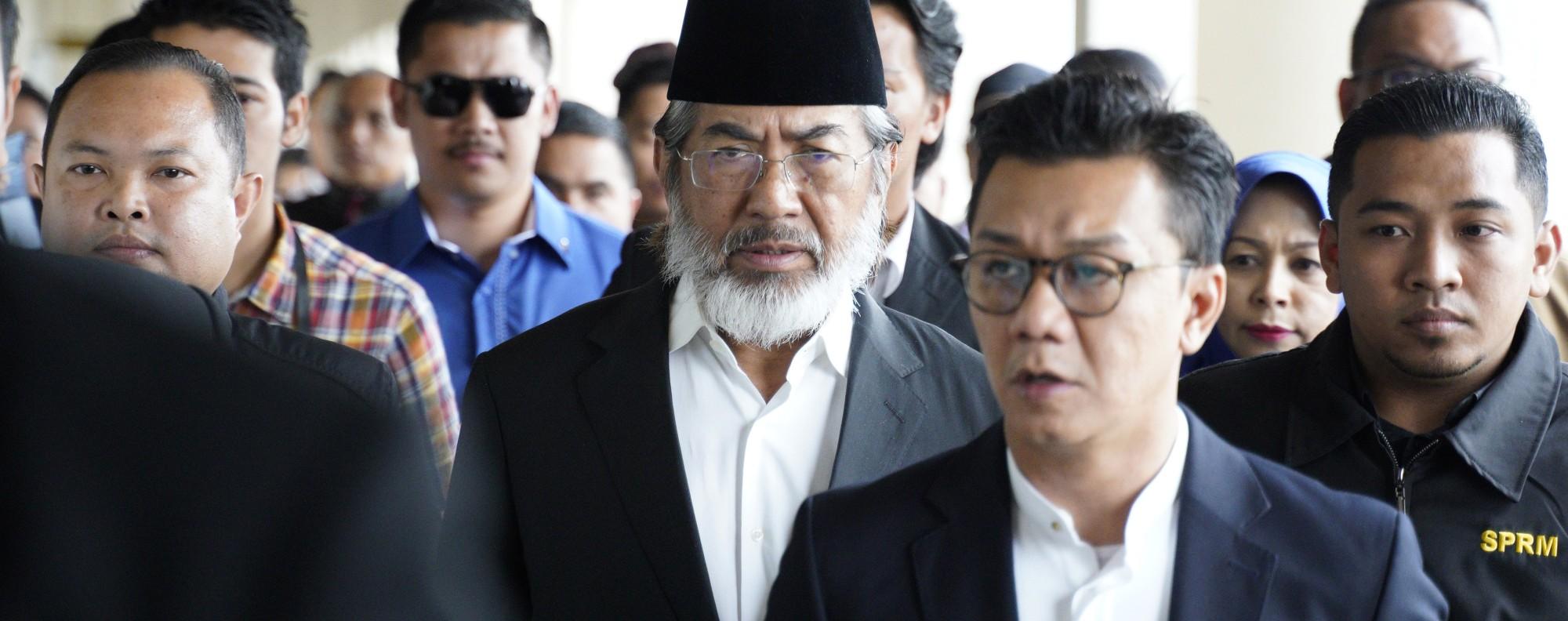 Musa Aman heads to court. Photo: AP