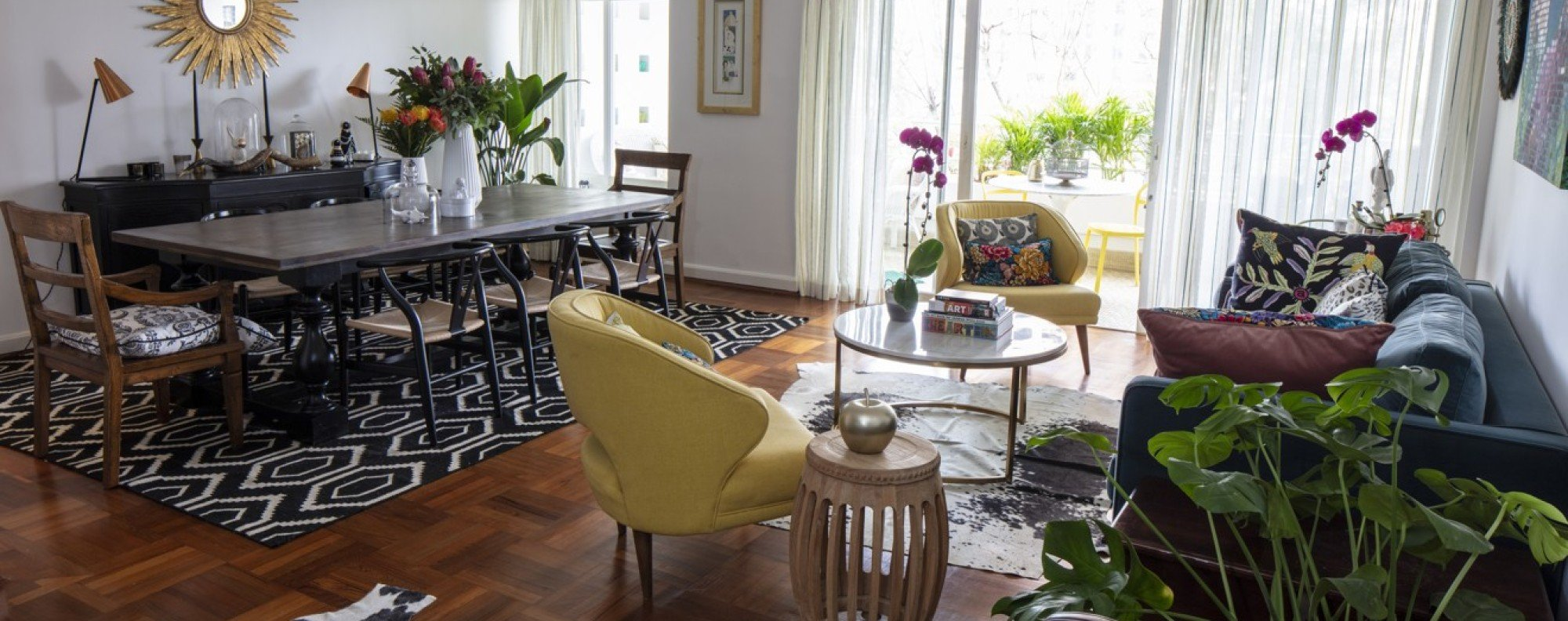 The open-plan living-dining space of Caitlin Walker's Mid-Levels flat. Picture: John Butlin