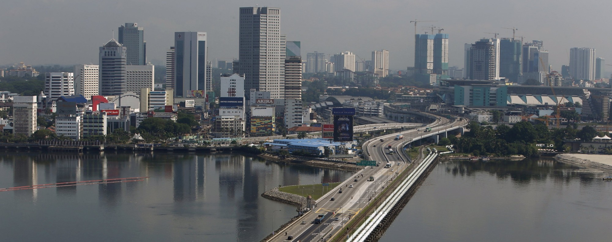 The causeway between Singapore and Malaysia. Photo: Reuters