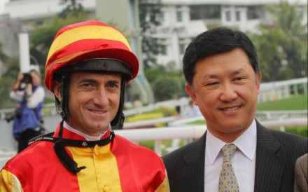 Douglas Whyte and Peter Ho savour their Class Four win. Photo: Kenneth Chan