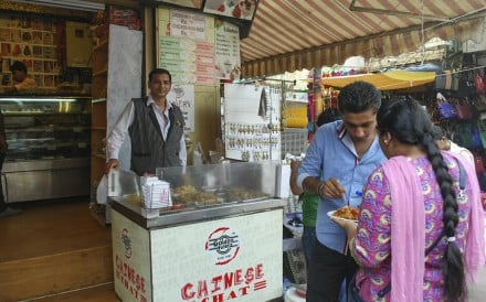The Golden Fiesta in South Delhi sells Chinese chaat - a food craze it hopes will stay on the menu. Photo: Victoria Burrows