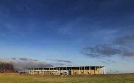 The exterior of the new Stonehenge visitor centre. Photo: AFP