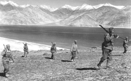 Rifle-toting Indian soldiers on patrol during the brief, bloody 1962 Sino-Indian border war. Photo: SCMP Pictures