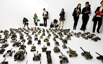 An exhibit at the Beijing Mingsheng Museum of Art. Photo: Xinhua