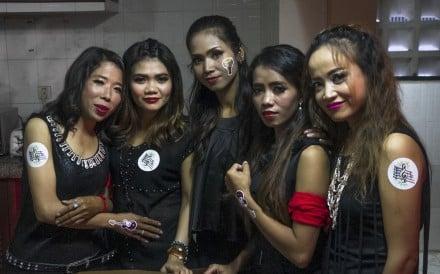 From left:Kao Sochevika, Leng Leakhana, Vun Em, Nam Sophors and Chrek Sopha, of the Messenger Band, during the group's 10th-anniversary celebrations in Phnom Penh.