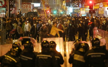 Protesters in Mong Kok earlier this month. Photo: Edward Wong