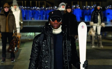 Moncler's Grenoble luxury athleisure ski wear incorporates special technology.