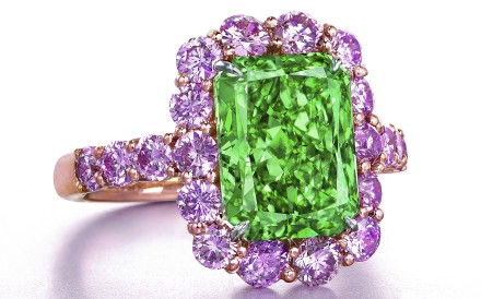 In June this year, a 5.03ct Aurora Green diamond was sold to Chow Tai Fook for HK$130 million. Photo: Christie's