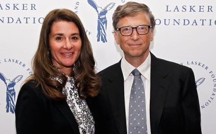 Melinda Gates and Bill Gates of the Gates Foundation which is funding research by Durham University. Photo: Brian Ach/Getty Images Entertainment