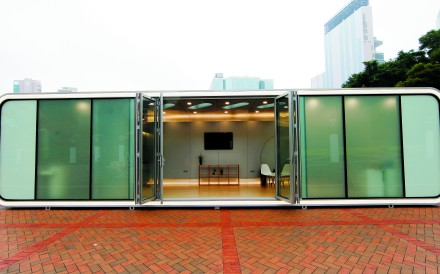 This handout image shows ALPOD is a futuristic aluminium mobile home designed, engineered, and produced by a team of Hong Kong visionaries. It makes its debut during the Hong Kong edition of the 2015 Bi-city Biennale of Urbanism\Architecture (the Biennale). Credit: courtesy of AluHouse [2016 FEATURES LIFE INTERIORS]