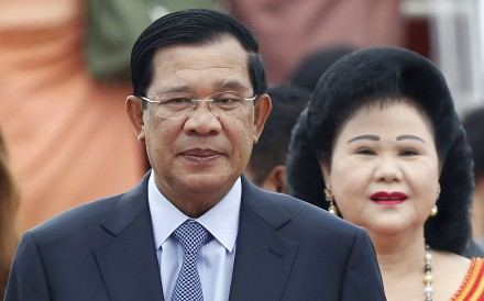 Cambodia's Prime Minister Hun Sen (left), pictured with his wife, Bun Rany, said last week China's aid package will support his country's election infrastructure, education and health. Photo: AP