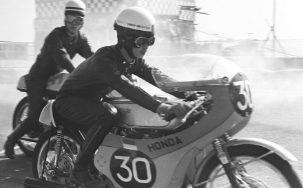 Oil being added during the 1968 Macau Grand Prix. Pictures: SCMP