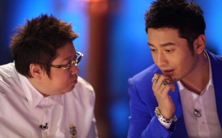 Huang Xiaoming (right), seen here on Chinese Idol, is a popular addition to celebrity reality shows. Photo: SCMP Pictures