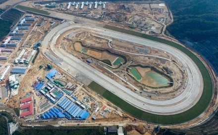 The Hong Kong Jockey Club's new HK$3 billion training facility at Conghua, near Guangzhou, will be ready for business in 18 months. Photo: Hong Kong Jockey Club