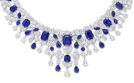 Graff. With a total of 61.67ct of diamonds and 48.25ct of sapphire, the necklace is a show-stopper. Price on request