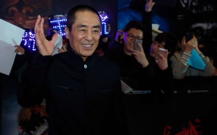 Director Zhang Yimou promotes The Great Wall in Beijing this month. The film opens in China today and on December 29 in Hong Kong.