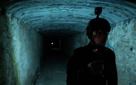 A member of Hong Kong Urban Exploration explores the tunnels under Leighton Hill. Photo: Urbex