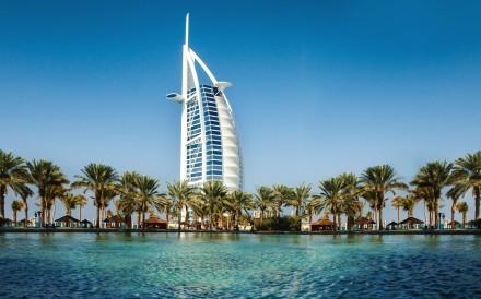 The Burj Al Arab hotel.