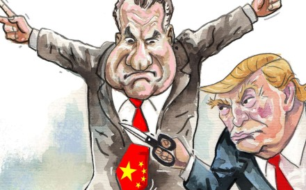 Jean-Pierre Lehmann says the contrasting fortunes of the two nations since Nixon's landmark 1972 visit bring home the challenges of a Trump presidency