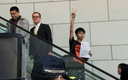 Joshua Wong in a still from the documentary Joshua: Teenager vs. Superpower. Photo: courtesy of Sundance Institute.