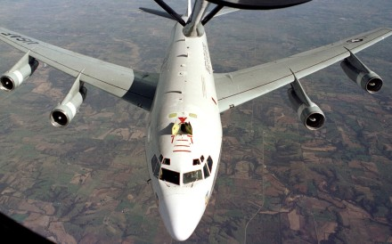 A US WC-135 radiation detection aircraft. The US characterised the Chinese action as 'unprofessional'. Photo: Handout