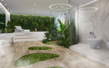 DesignLibero's bathroom is a marriage of technological innovation and natural power.
