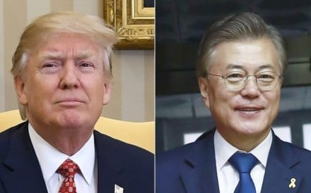 South Korea's newly elected President Moon Jae-in is open to dialogue with the North, but Donald Trump is still undecided between talking to Pyongyang or launching a pre-emptive strike, if China proves ineffective in restraining the regime. Photo: Kyodo