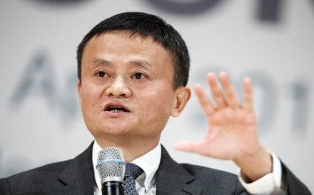 Jack Ma, founder and chairman of Alibaba Group Holdings, speaking as Special Adviser to the UNCTAD for young entrepreneurs and small businesses at the United Nations e-commerce week in Geneva on April 25. Photo: EPA
