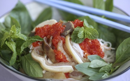 Give this Vietnamese rice vermicelli dish a delicious twist with a tongue-tingling home-made chilli sauce