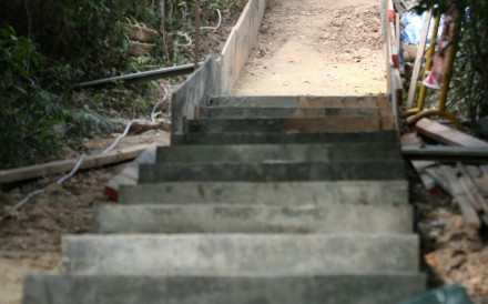 The repetitive jolts from landing on concrete causes tendinosis – irreversible injury to ligaments, tendons and muscles; a group is working with the government on alternatives to concreting city's trails