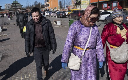 Transgender activist Anaraa Nyamdorj (far left) founded the LGBT Centre in the Mongolian capital, Ulan Bator. Picture: Miguel Candela