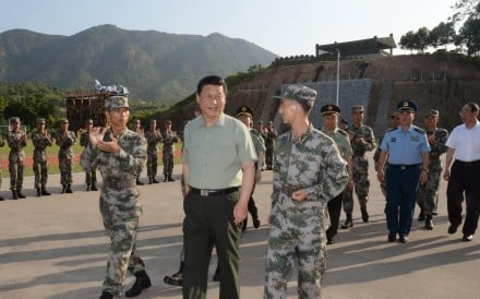 (President Xi Jinping visits the troops in Fujian province three years ago. He will address the armed forces at an Inner Mongolian training base on Sunday. Photo: Xinhua