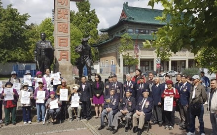 Vancouverites young and old, including veterans and Jenny Kwan (centre in purple), a Member of Parliament representing Vancouver East, protest the rezoning application of 105 Keefer Street in Vancouver's Chinatown. Photo: courtesy of Andy Yan