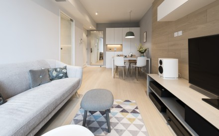Clever design has helped transform a 660 sq ft apartment in Tseung Kwan O into a spacious, cosy haven for two busy medical professionals