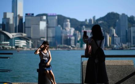 The promenade at Tsim Sha Tsui on Victoria Harbour. Photo: AFP