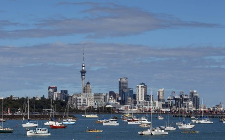 The Auckland city skyline. Overseas buyers will no longer be allowed to purchase existing homes in New Zealand, Prime Minister Jacinda Ardern said. Photo: AFP