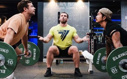 Dmitry Klokov teaches weightlifting at URSUS Fitness in Sai Ying Pun. Photo: Pan Peng