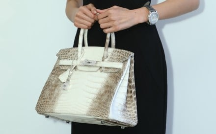 World's most expensive handbag ever sold at auction is now this matte white Niloticus crocodile Himalaya Birkin 30, which was auctioned for HK$2.98 million at Christie's today