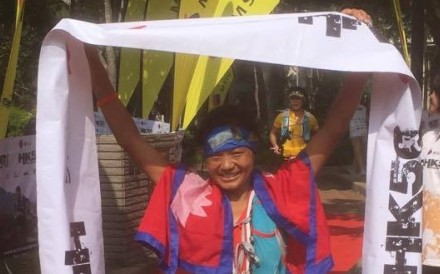 Mira Rai wins the Lantau 50, beating the next fastest woman by an hour. Photos: Mark Agnew