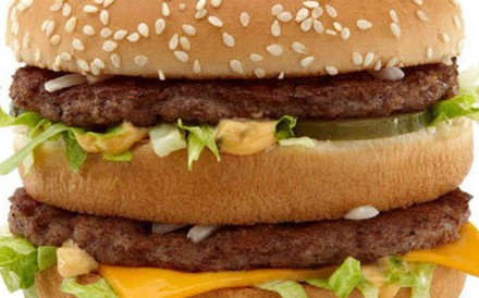 Two Big Macs, two Filet-O-Fishes and a chocolate milkshake: the preferred order of Donald Trump at McDonald's. Photo: Handout