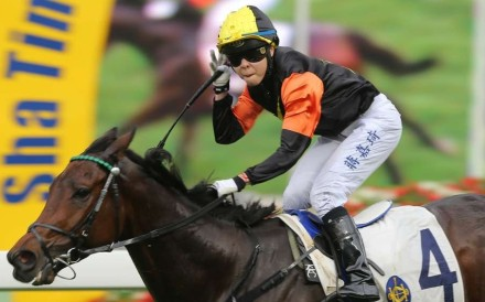 Hong Kong jockey Kei Chiong signifies four wins after completing an historic four-timer in 2016. The jockey announced her retirement from the sport at 25 years of age on Sunday. Photos: Kenneth Chan
