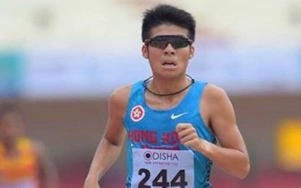 Zero Yu runs for Hong Kong at the Asian Athletics Championships. Photos; Handout