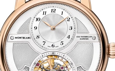 Montblanc. The Star Legacy Suspended Exo Tourbillon Limited Edition 58 features a three-dimensional dial and a new patented complication. Price on request