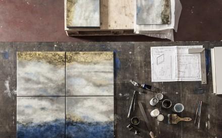 The making Of Armani Casa's Club Bar Cabinet Ocean Laquer requires intense craftsmanship.