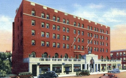 An historic drawing of the original Hotel Saranac, in New York State. Photo: Hotel Saranac