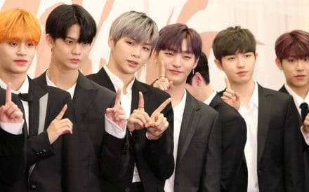 Boy band Wanna One pose for their new album, 'I Promise You'. Photo: Yonhap
