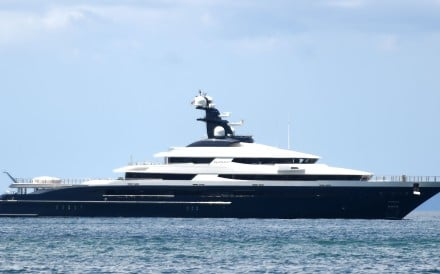 The Cayman Islands-registered vessel Equanimity, which is owned by businessman Jho Low and was linked to allegations that US$4.5 billion was looted from Malaysia's state investment fund 1MDB. Photo: AFP