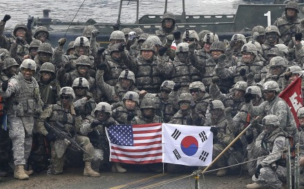 US and South Korean troops pictured during an 2015 joint exercise. Any lasting deal on the peninsula will need US support: Photo: AP